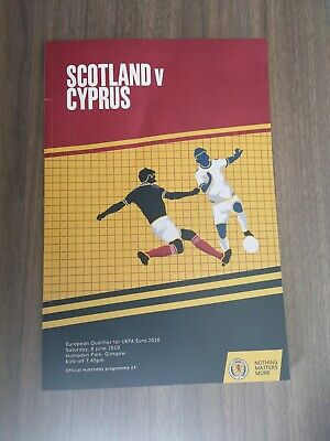 Euro 2020 Qualifier SCOTLAND VS CYPRUS Match Day Programme and Poster