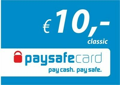 10 Euro Paysafecard / Fast Delivery / per Email