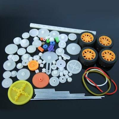 78 Kinds Plastic Shaft Single Double Reduction Crown Worm Gears DIY For Robot