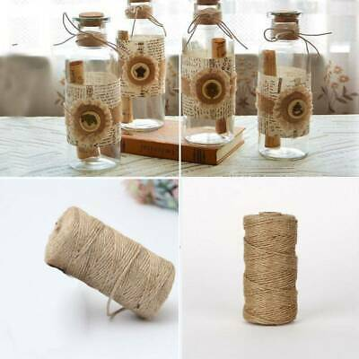 100m Natural Hemp Rope Jute Twine Burlap String Wrapping Cords  Gift  Thread DIY