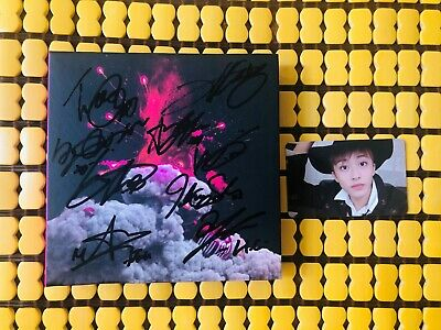 (With Photocard) NCT NCT127 AUTOGRAPH SIGNED CHERRY BOMB ALBUM
