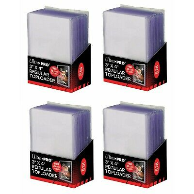 NEW Ultra Pro 3x4 Top Loaders 100 Count Pack Plus 100 Free Card Sleeve