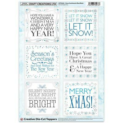 Craft Creation Christmas Sentiments Toppers For Cards & Craft