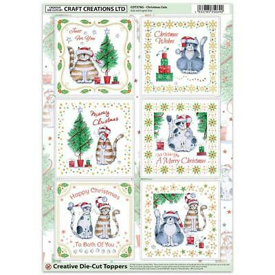 Craft Creation Christmas Cats Toppers For Cards & Craft