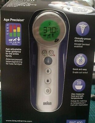 Braun 2 in 1 No Touch + Touch Thermometer with Age Precision, BNT400