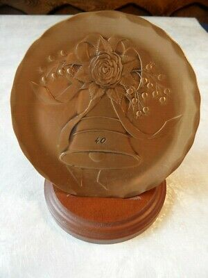 Wendell August Forge Bronze 40th Anniversary Tribute Plate with Stand