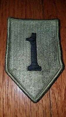 US Army 1st Infantry Division (1ID) hook & pile tape OCP patch used