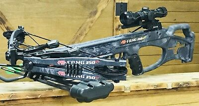 PSE Fang XT Crossbow w/ UPGRADED ILLUMINATED SCOPE,Kryptek Typhon Camo