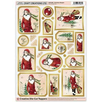 Craft Creation Christmas Shopper Toppers For Cards & Craft