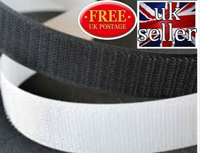 VELCRO Sew on tape Hook and Loop Stitch on tape black or white 38mm width