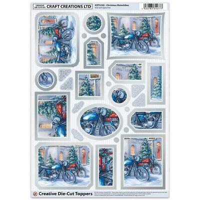 Craft Creation Christmas Motorbikes Toppers For Cards & Craft
