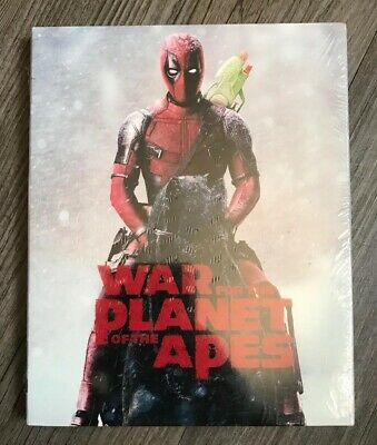 War For Planet Of The Apes Deadpool Photobomb Slip Cover Blu Ray