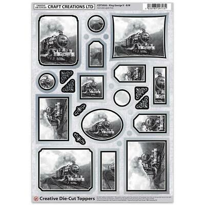 Craft Creation King George Black & White Toppers For Cards & Craft