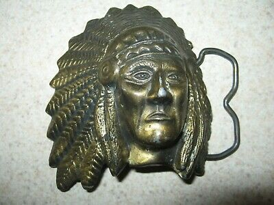 Native American Indian Chief MBCI Vintage Belt Buckle