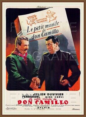 DON CAMILLO FILM FERNANDEL Rwgd-POSTER/REPRODUCTION A3+(*) d1 AFFICHE VINTAGE