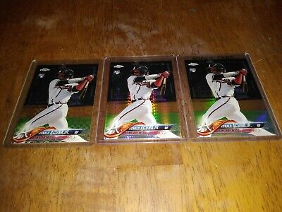 2018 topps chrome ronald acuna refractor Lot X-factor,Base,Prism