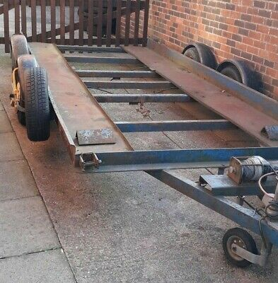 Car Transporter Trailer Electric Winch with Ramps Brian James