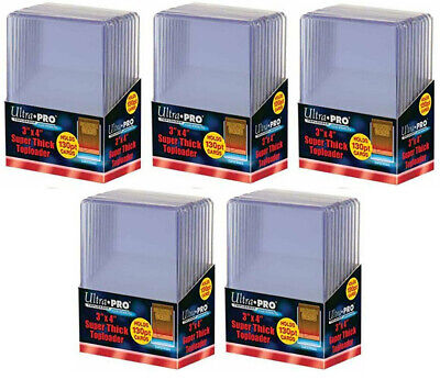 NEW Ultra Pro 3x4 Super Thick Top Loaders 50 Count Pack (130 Pt)