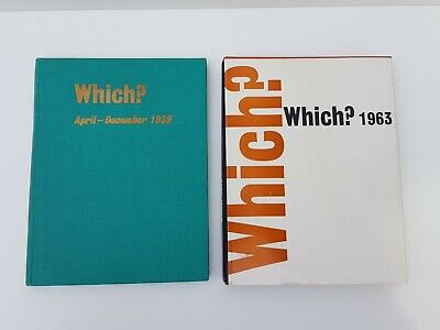 2 Vintage Which? Consumers' Association Ltd 1959 1963 Books, Printed In England