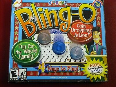 Video Game PC Bling-o coin dropping action eGames NEW SEALED