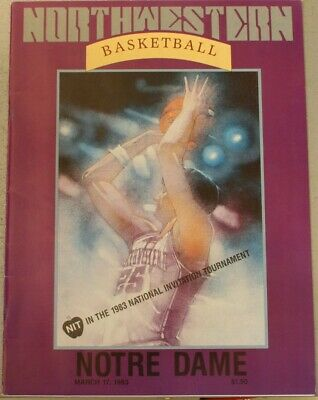 1983 Notre Dame Fighting Irish Northwestern Wildcats NIT Program Paxson Phelps