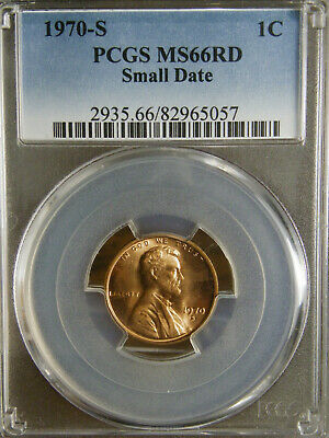 1970 S SMALL DATE PCGS MS66RD LINCOLN MEMORIAL CENT   Blue Label