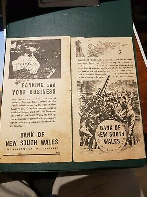 1940's Bank Of New South Wales Advertising