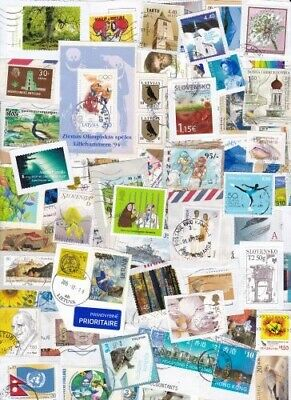 Current High Value Airmail Clippings 60 gm 2 oz Superb Large Kiloware On Paper