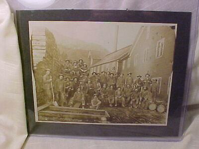 1890s MINE MINING LARGE CABINET PHOTO MINERS WITH STICKING TOMMY CANDLE STICK