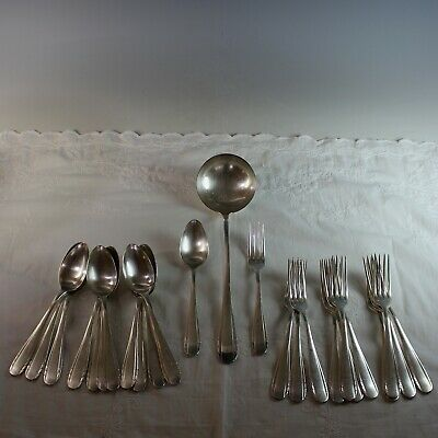 Antique French Silverplate Flatware Set for 12  Serving Spoon (no knives)