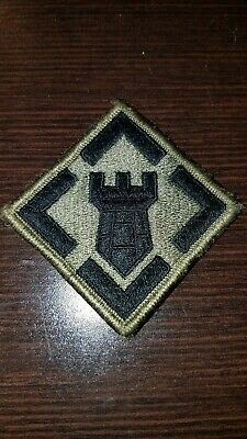 US Army 20th Engineer Brigade OCP hook & pile tape patch