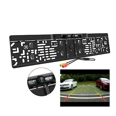 Car Reversing Rear View Camera License Plate Night Vision Backup Parking Sensor