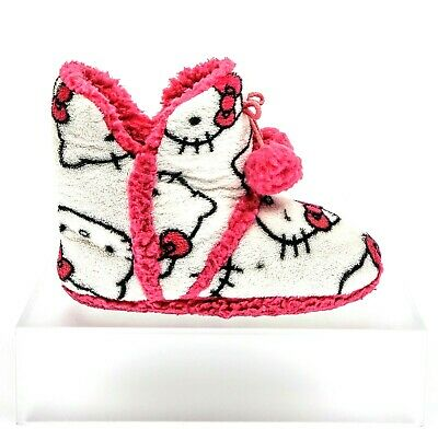 2f10cc9d1 Hello Kitty Soft Cozy Pillow Plush Slipper-Boot Pink/White Youth Girls Size  5