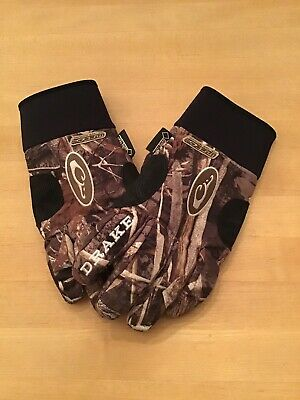 e4be7801a63e0 Drake Waterfowl Systems Mst Refuge Hs Gore-Tex Camo Gloves - Max-5