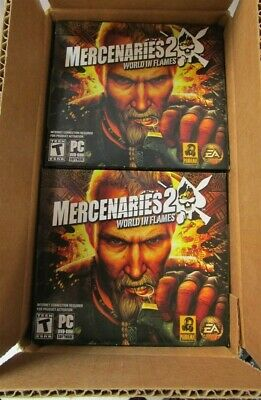 Video Game PC Wholesale Lot of 12 Mercenaries 2 World in Flames NEW Jewel
