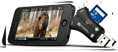 Trail Camera Card Reader Viewer for iPhone iPad Mac & Android, SD & Micro SD