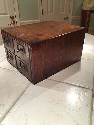 Antique 4 Drawer Card Catalog