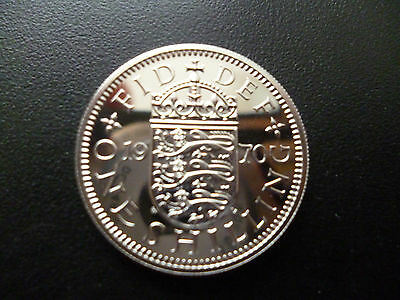 1970 PROOF ENGLISH SHILLING LAST EVER MINTED. 1970 shilling coin capsuled.