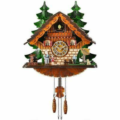 Kintrot Cuckoo Clock Traditional Black Forest Chalet Clock Handcrafted Quartz Cl