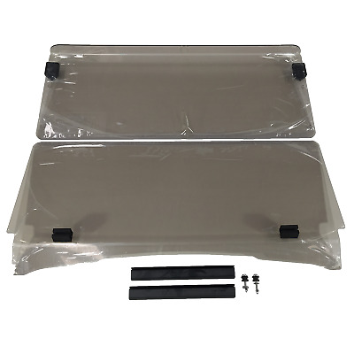 Windshield For Ezgo Txt Golf Cars. 2 Piece Fold Down. Strong 4Mm Acrylic.