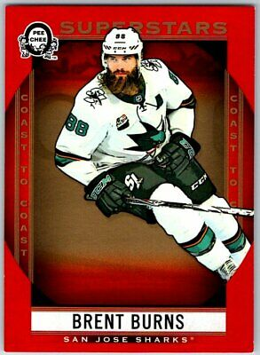2018-19 Opc Coast To Coast Canadian Tire Red Superstars Sp Brent Burns # 121 Bv