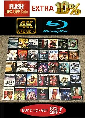 4K UHD Blu ray Movies - Some w/ Digital Copies -Updated Often -Buy 2 Save 10%!