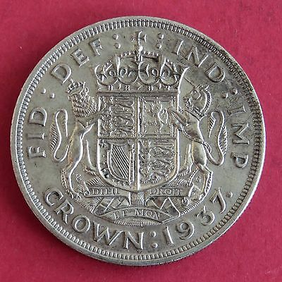 Uk 1937 George Vi Silver Coronation Crown