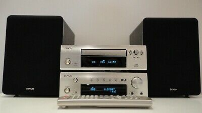 Denon DRA-F102DAB HiFi Component System Amp CD Tuner  + Bluetooth+120W Speakers