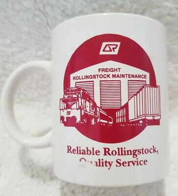 Rare Queensland Rail Railway coffee cup railroadiana memorabilia