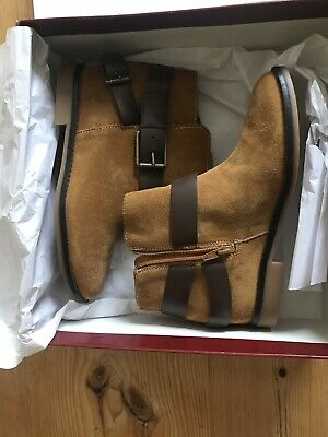 Hush puppies brown suede boots size 5