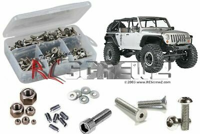 RC Screwz Stainless Steel Screw Kit for Axial Racing SCX10 Jeep Rubicon #axi009
