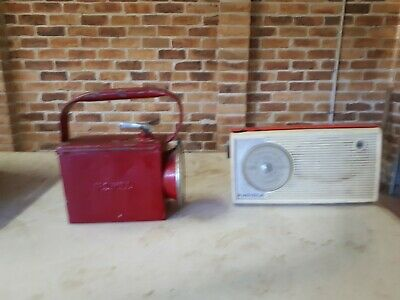 VINTAGE GUARD RAILWAYS SIGNAL LAMP/TORCH  & antique radio