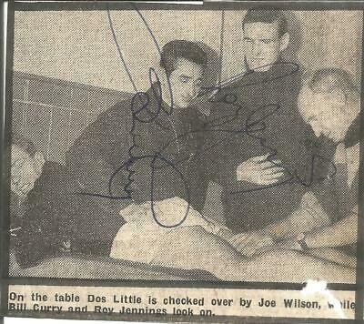 Football Autographs Bill Curry & Roy Jennings Signed Newspaper Picture F991