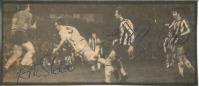 Football Autograph Eric Steele & 2 Others Signed Newspaper Photograph F1026